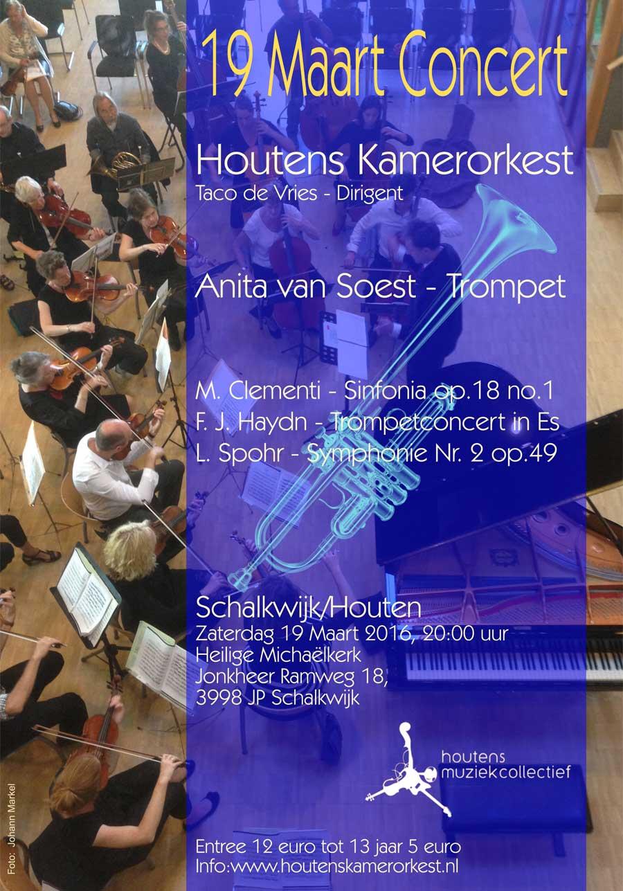 Anita van Soest - Affiche optreden met Houtens Kamerorkest