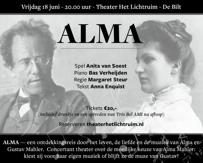 ALMA - Concertant theater over het leven van Alma Mahler
